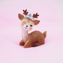 Birthday cake decoration Sika Deer handicraft DIY creative small souvenir car childrens desk home gift