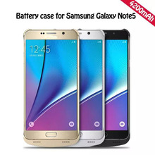 Для Samsung Телефон 4200 мАч Аварийного Зарядки Power Bank Чехол для Samsung Galaxy Note 5 note5 N9200 Батареи, Зарядное Устройство, Чехол