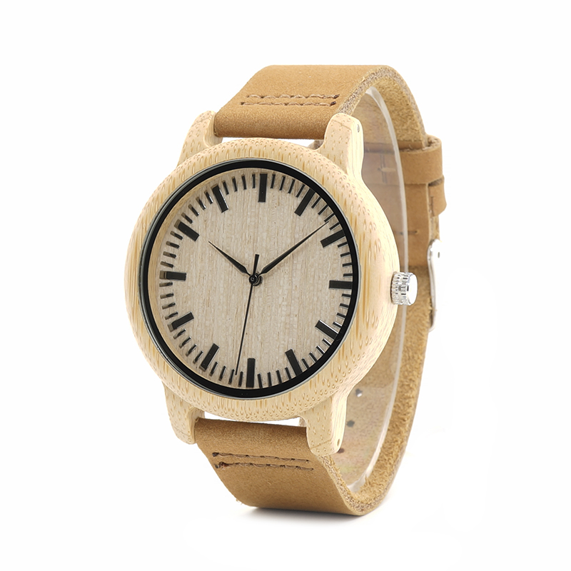 2017 BOBO BIRD Luxury Brand Watch Men Genuine Leather Strap Natural Bamboo Wristwatches relogio masculino B-A16 bobo bird top brand men watch luxury wood watches with genuine leather strap relogio masculino