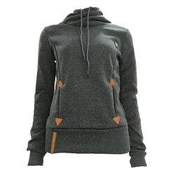Autumn Harajuku Hoodies Women Loose Hooded Scarf Collar Pocket Pullovers Female Long Sleeve Cotton Sweatshirts Plus Size 30** 5