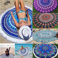 Rodada Hippie Boho Indiano Mandala Tapeçaria Lance Cobertor Mat Piquenique Na Praia