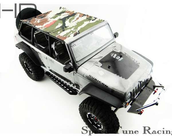 ФОТО Jeep 4 Dr Soft Top camouflage Black rod  for the Axial SCX10