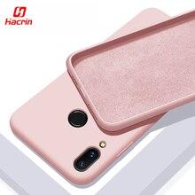 Hacrin Liquid Silicone Case For Xiaomi Redmi Note 7 Anti-Drop Soft Bumper Cover for Phone