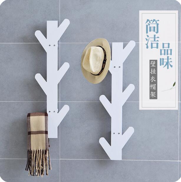 Creative Tree Wall Shelf Living Room Simple Coat Hanger Bathroom Orgnizer Storage Rack
