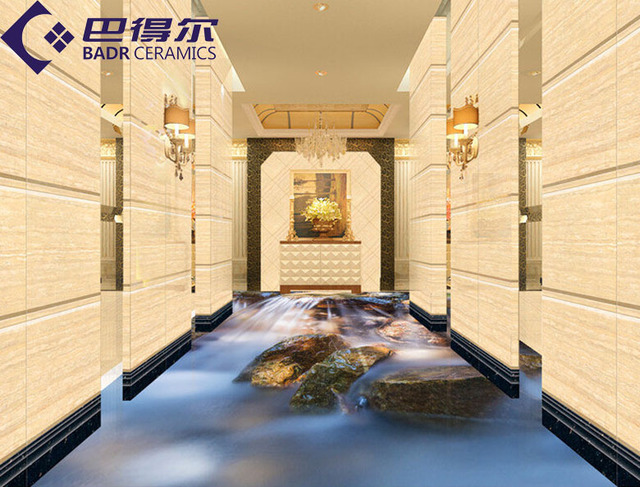 Badr 3D brick tile bathroom floor tile hallway living room backdrop