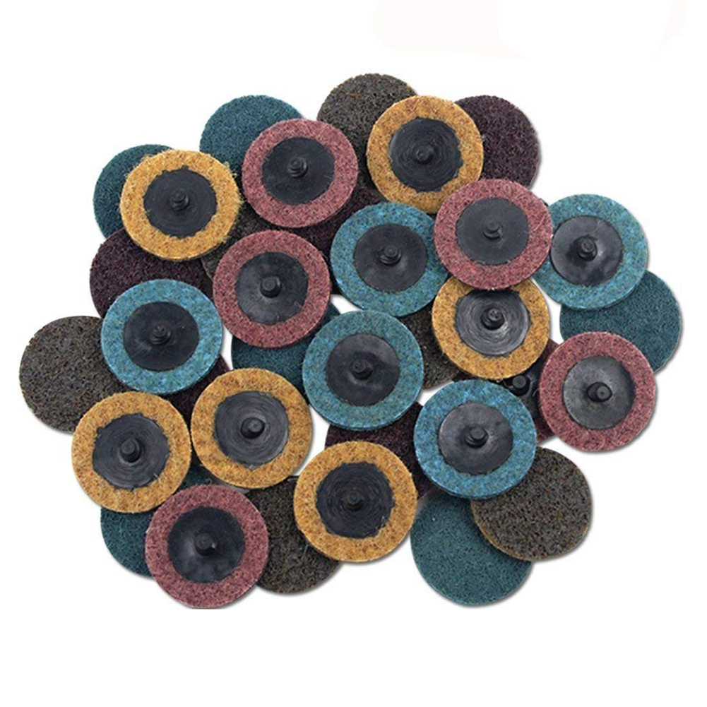 30PCS Hot Sale 2 inch Roloc Disc Mixed Pack(Coarse/Medium/Fine) Quick-Change Surface Conditioning Discs Sanding Disc 50pcs set 2 roloc sanding disc scotch brite roll lock coarse surface conditioning for stainless steel standard alloyed steel
