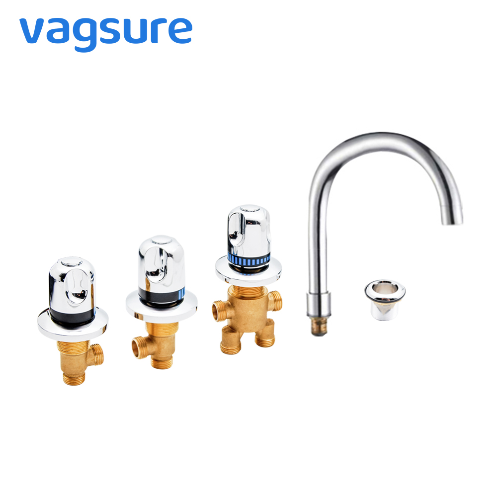 Classic Round Style Cold and Hot Bathtub Waterfall faucet Mixer  Brass Switch Control Valve For Faucet Shower