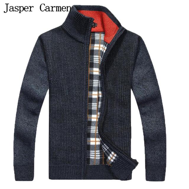 Frete Grátis New Design Gola Homens Camisola Com Zíper Grosso de Alta Qualidade Casual Camisola Homens Cardigan marca-roupas 58