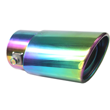 DSYCAR Universal Stainless Steel Grilled blue Car Tailpipe Exhaust Pipe Muffler Tip Exhaust Pipe Cover Car styling Modification