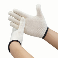 10 Pairs Cotton Gloves Knitted Working Gloves Wear Resistant Safety White Glove Labour Protective Construction Gloves for Worker