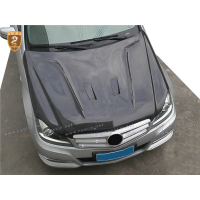 Carbon Fiber Engine Hood Cover Fit For W204 C300 2012 2013 2014 W204 Car Bonnet For Mercedes Parts Accessories