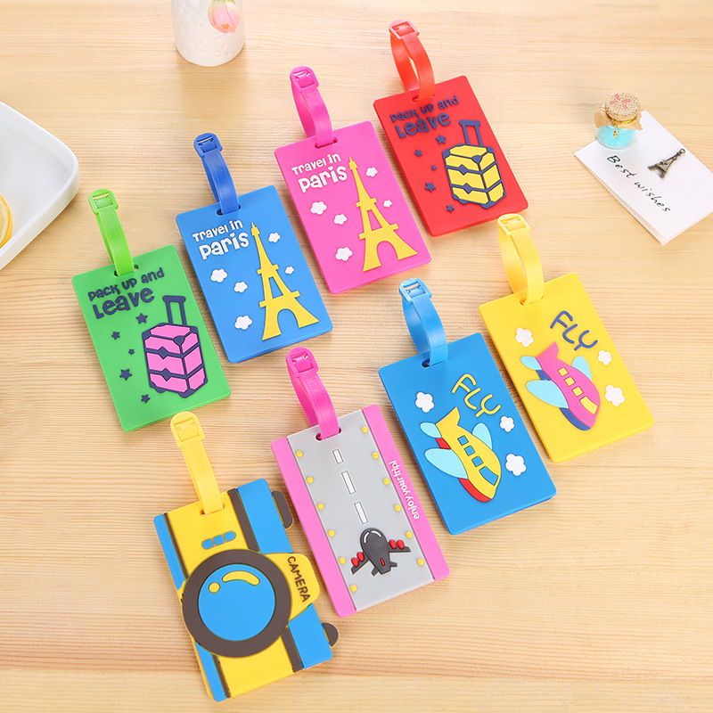 Travel Accessories Luggage Tags Animal Cartoon Print Silica Gel Suitcase ID Address Label Baggage Travel Tag cartoon bouquet silica gel mold