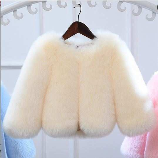 5a746fee1 Online Shop Furry 2018 Kids Girls Luxury Winter Warm Faux Fur Coats ...