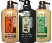 Black Sesame Seeds Hair Shampoo Professional Hair Loss Treatment Hair Regrowth Damager Hair Repair 625ml