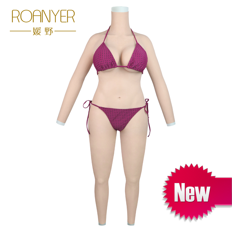Roanyer crossdresser silicone breast forms shemale whole body suits male to female fake boobs penetrable fake vagina transgender roanyer pant large size with fake penetrable vagina artificial realistic silicone fits crossdresser transgender transsexual