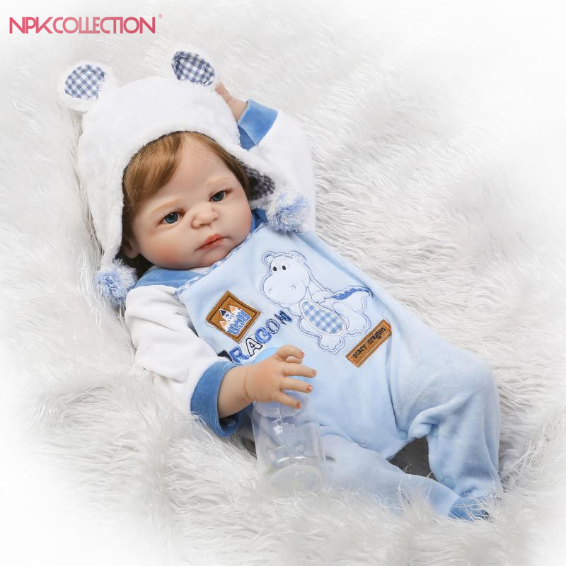 55cm Hair Rooted Realistic Reborn Baby Dolls full Silicone body Lifelike Newborn Doll Toys Girl Playmate Gifts For Children Toys ...