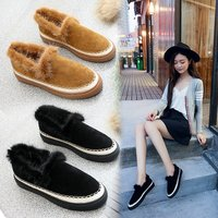 Women S Shoes 2017 Fashion Autumn Winter Women S Boots Warm And Anti Skid Suede Shoes