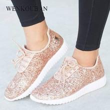 Frauen Turnschuhe Bling Damen Schuhe Sommer Glitter Tainers Frauen Weiße Turnschuhe Sparkly Lässige Schuhe Korb femme Zapatos Mujer