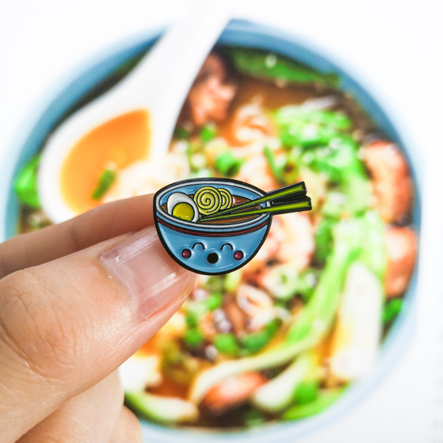 Japanese Sushi Ramen Milk Koi flag Enamel Pins Cartoon Food Lucky Fish Badge Brooch Denim Jeans shirt Cute Jewelry Gift for kids
