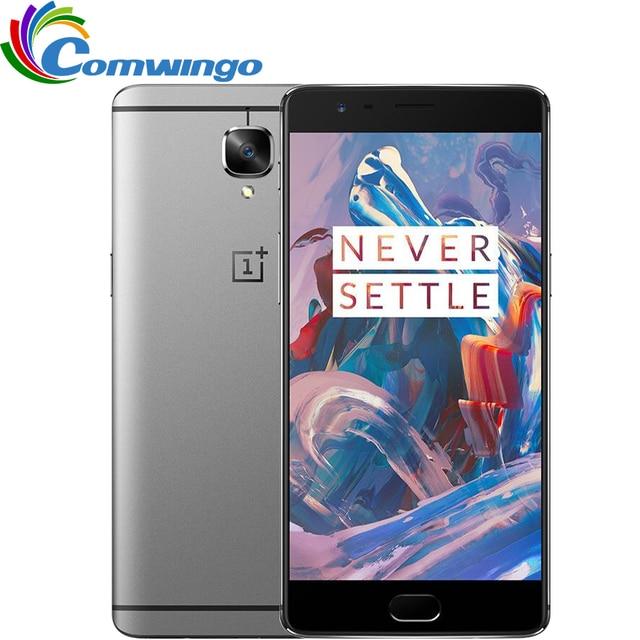 "Original oneplus 3 6 gb ram 64 gb rom snapdragon 820 msm8996 quad core 5.5 ""HD Android 6.0 4G LTE Phonet Fingerprin GPS Móvil"