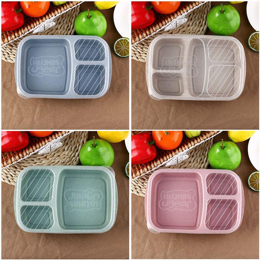 1 Pz Microwavable Conservazione Degli Alimenti Contenitore Di Alimento Scatola Portatile Di Preparazione Pasto Portatile Paglia Di Grano Picnic Lunch Container Design Moderno