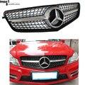 Mercedes W204 AMG Estilo Diamantes Radiador Sporty C63 Grade Dianteira Grill para Benz 2007-2014 Classe C C180 C200 C260 C300