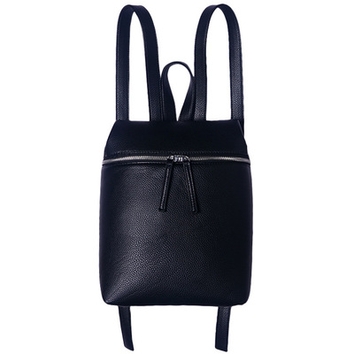 2018 New Fashion PU Leather Litchi Bags Korean Pure Color Simple Trend Backpack White and Black Travel Backbag