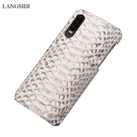 natural python leather Case For Huawei mate 20 p30 p20 pro Lite phone case luxury Snakeskins cover for Honor 8x v20 10 20 Pro