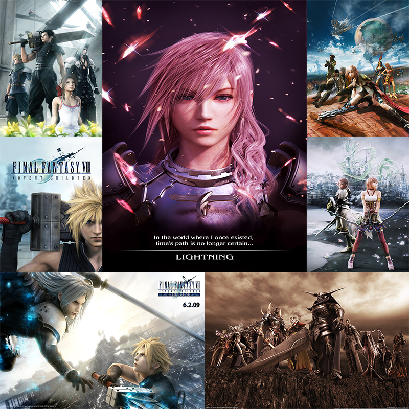 Us 2 24 20 Off Cloud Vs Sephiroth Final Fantasy Game White Cardboard Poster Art Wall Pictures For Bedroom Living Room Deco 42 30cm No Frame In Wall