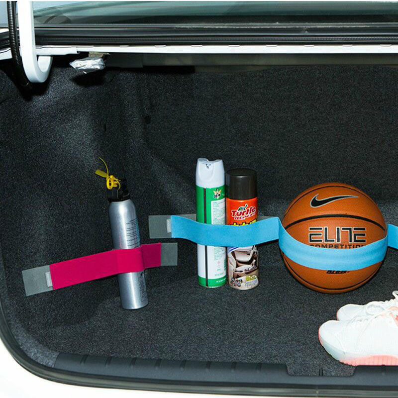 80CM 60CM 40CM Car Trunk Organizer Stowing Tidying Fixed Sundry Belt 4 Color Nylon Strap Car Styling Interior Sticker Magic Tape