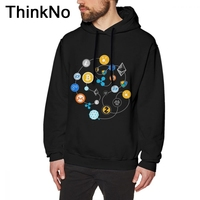 Cryptocurrency Ethereum Bitcoin Litecoin sweatshirt Tether Cash Blockchain Technology Hoodies Picture Custom Organic Cotto