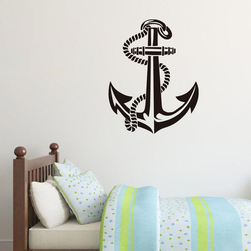 New Anchor Vinyl Wall Sticker Super Quality Wall Paper Removable Adhesive  Art Decals Home Decor For Living Room