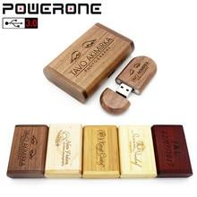 POWERONE usb wooden 8GB 16GB 32GB 64GB Flash Drive pendrive U disk Memory stick