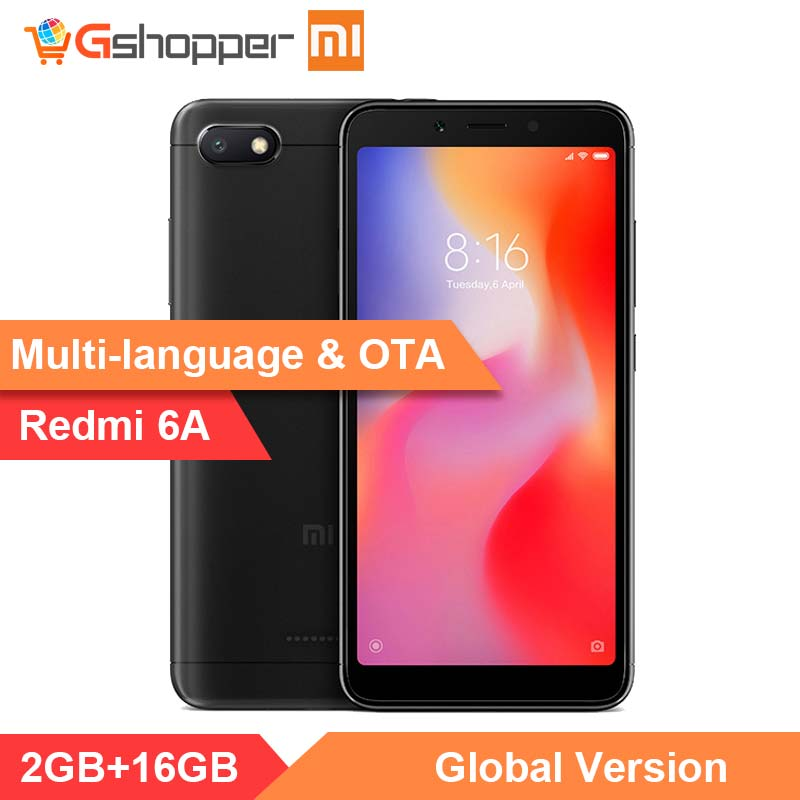 En stock D'origine Mondial Version Xiaomi Redmi 6A 2 GB 16 GB 5.45