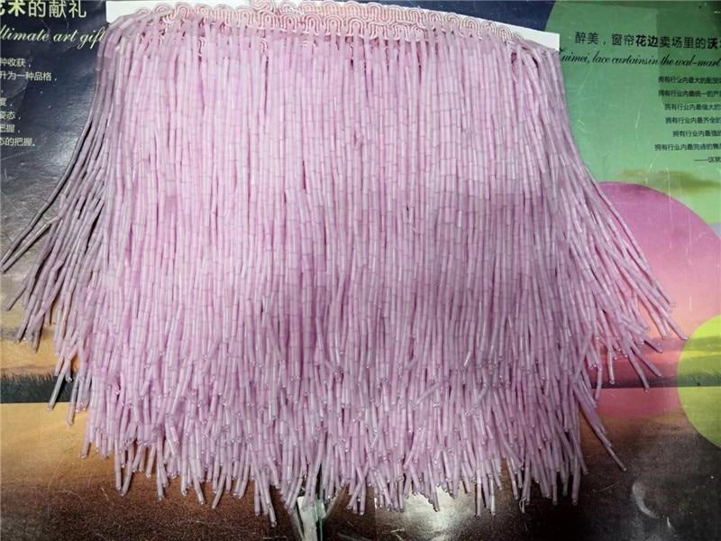 H-1971103 nouveau 5 yards perles ruban gland pendentifs frange 15 cm largeur pour robe de bal/robe de mariée/spectacle de mode