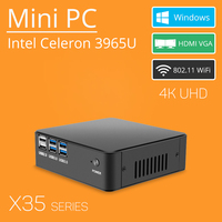 Mini PC Celeron 3965U Windows 10 4K Support HDMI VGA USB3 0 300M WiFi TV Box