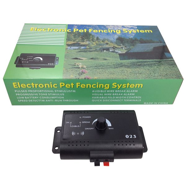 023 Portable Electronic Collar Electronic Fence Dog In ground Pet Fencing System Dog Training for 2 dogs in Sets from Home Garden