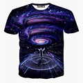 2016 Newest galaxy space printed creative t shirt 3d men's tshirt summer novelty 3D psychedelic tee shirts clothes men's shirt