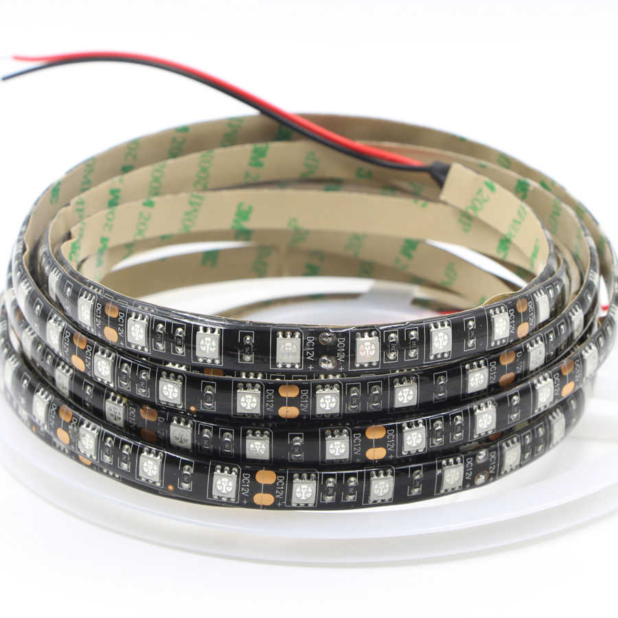 12V czarny PCB UV Led Strip light 5050 SMD wodoodporna noc wędkarstwo ultrafioletowa elastyczna taśma Led lampa wstążkowa domyślnie strona
