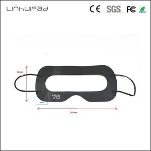 Image 2 - Linhuipad 100 adet siyah tek kullanımlık koruyucu hijyen göz pedi yüz maskesi pedleri HTC Vive 3D sanal gerçeklik gözlükleri