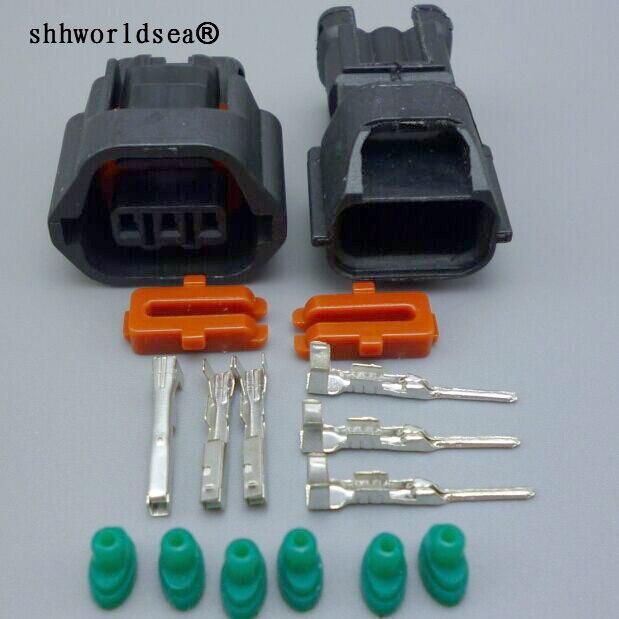 3-контактный разъем shhworld Sea, 1,2 мм, 7283-8730-30, 7182-8730-30 скоростей, разъемы для проводов, камера EVO, датчик Mivec для Mitsubishi, Nissan, Qashqai
