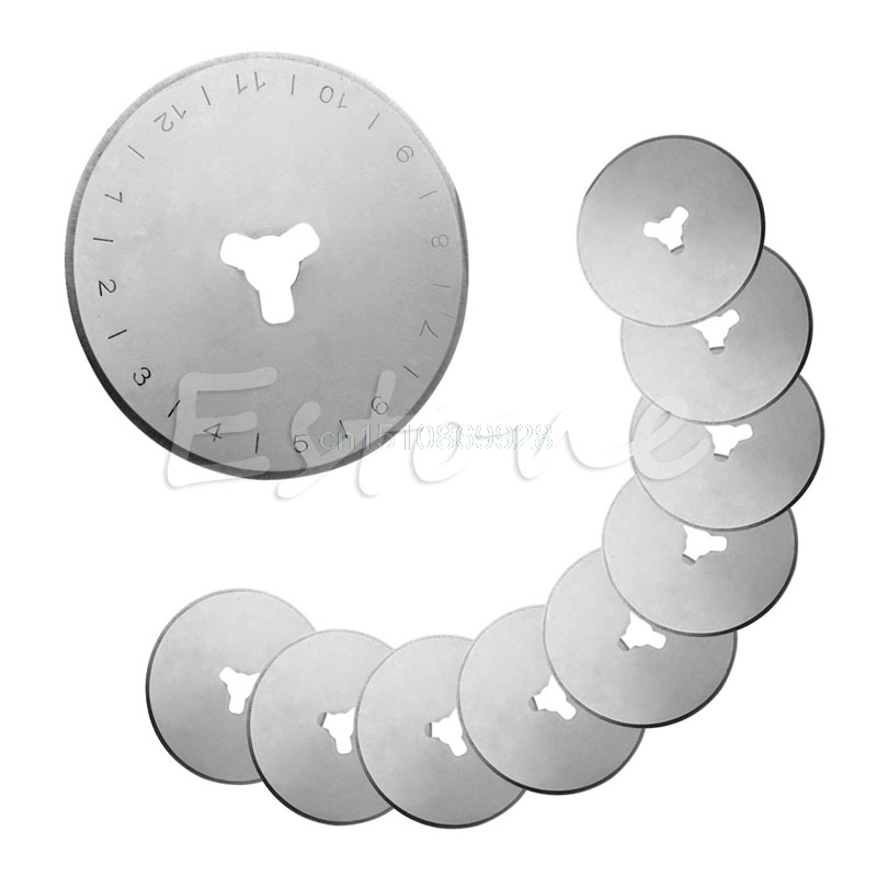 10Pcs 28MM Rotary Cutter Refill Blades Sewing Quilting Fits For Olfa For Fiskars