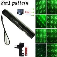 8 in1 lazer зеленая лазерная указка 532nm 5 мВт 10000 м 303