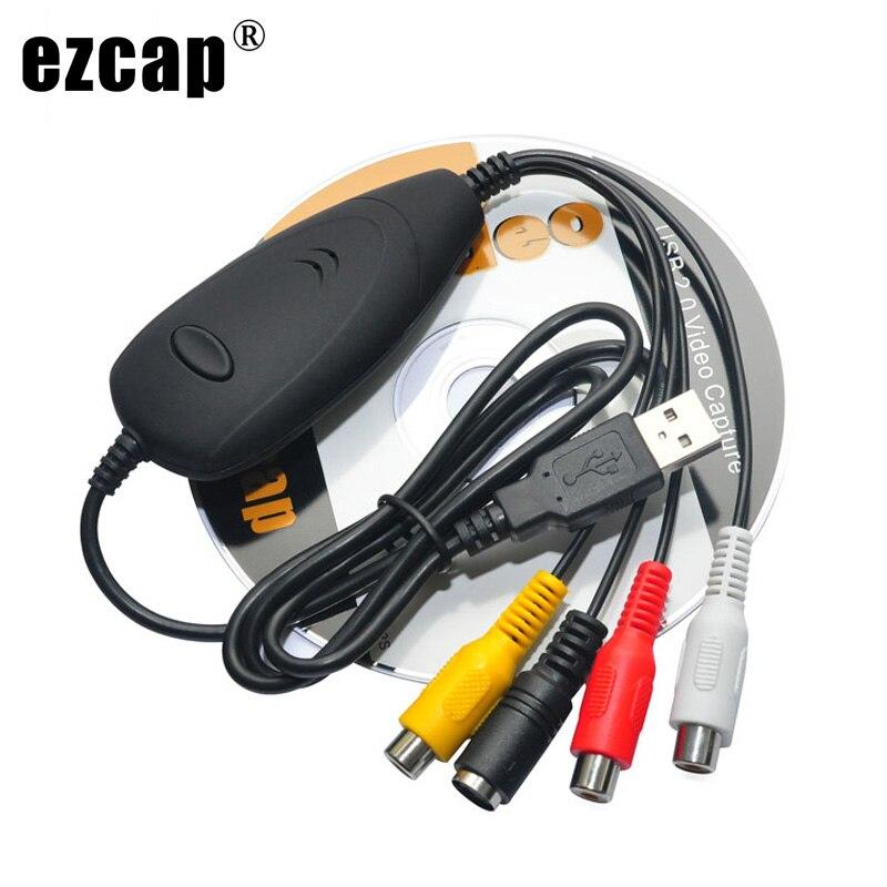 Ursprüngliche Echte Ezcap172 USB 2.0 Video Capture Grabber, analog Video von TV STB Kamera Spiel Player DVD VHS TO PC Laptop