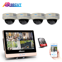 Newest 2 0Megapixels HD Outdoor IR Night Vison Security Fixed Dome POE Camera Kit 4CH 1080P