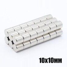 50 stuks 10x10mm Neodymium Disc Magneten NdFeB 10x10mm Super Sterke Krachtige Zeldzame Aarde 10mm x 10mm N35 Kleine Ronde Magneet