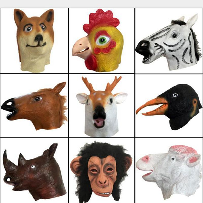 Halloween Party Mask konjska glava maska polna glava maska - Prazniki in zabave