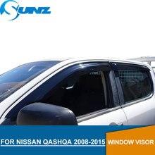 for Nissan QASHQA 2008-2015 Window Visor deflector Rain Guard 2008 2009 2010 2011 2012 2013 2014 2015 SUNZ