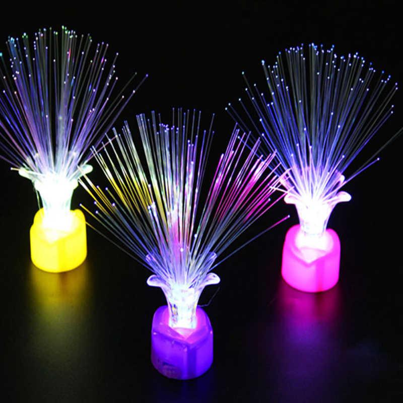 Рождественская елка Оптическое волокно рождественские светодиодные лампы Изысканная лампа светодиодный ночник творческий дом ночник Санта Клаус