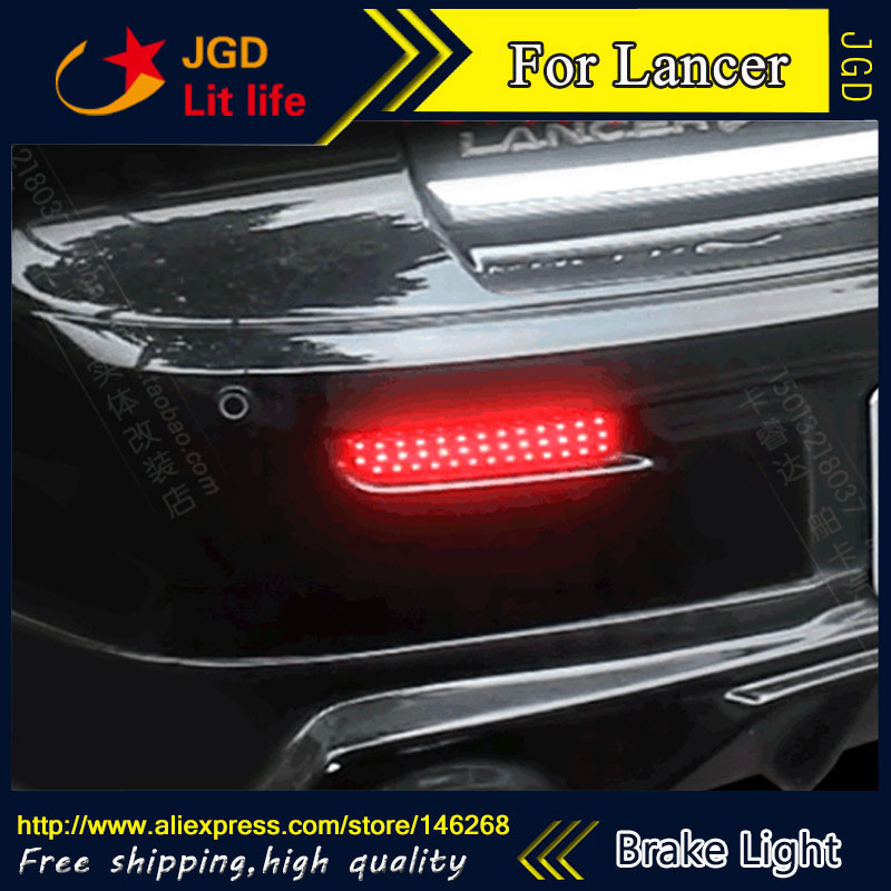 Free shipping Tail light parking warning rear bumper reflector for Mitsubishi Lancer Car styling high quality chrome tail light cover for mitsubishi l200 triton free shipping
